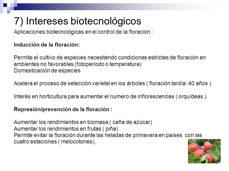 7) Intereses biotecnológicos