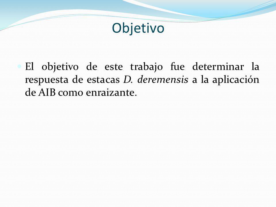 Objetivo El objetivo de este trabajo fue determinar la respuesta de estacas D.