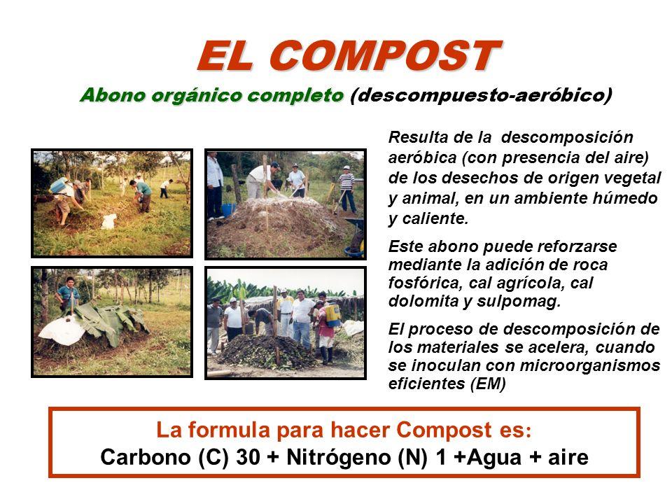 EL COMPOST Abono orgánico completo (descompuesto-aeróbico)