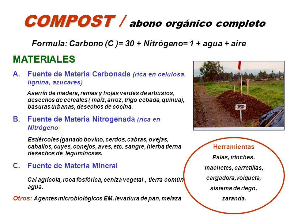 COMPOST / abono orgánico completo