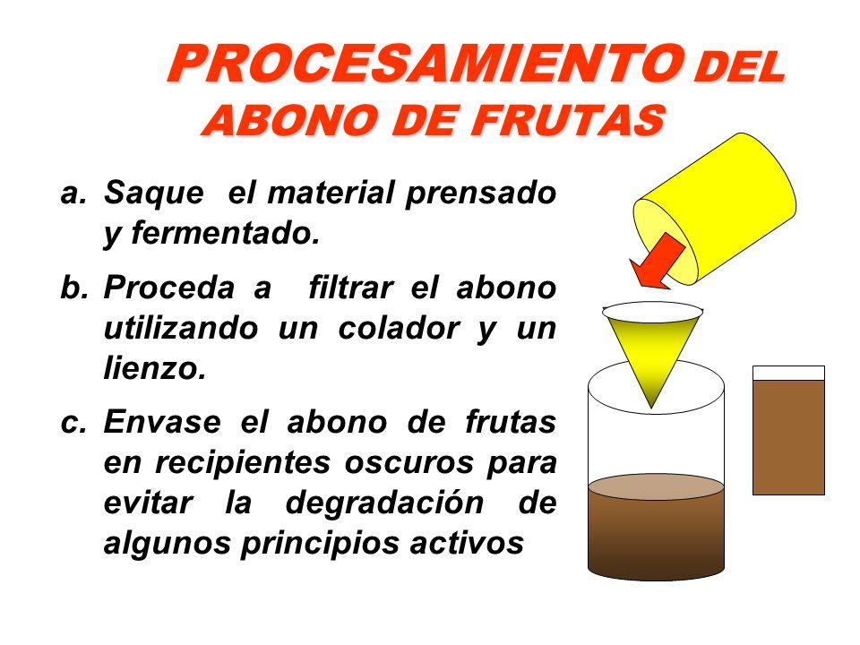 PROCESAMIENTO DEL ABONO DE FRUTAS