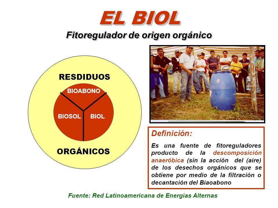 EL BIOL Fitoregulador de origen orgánico
