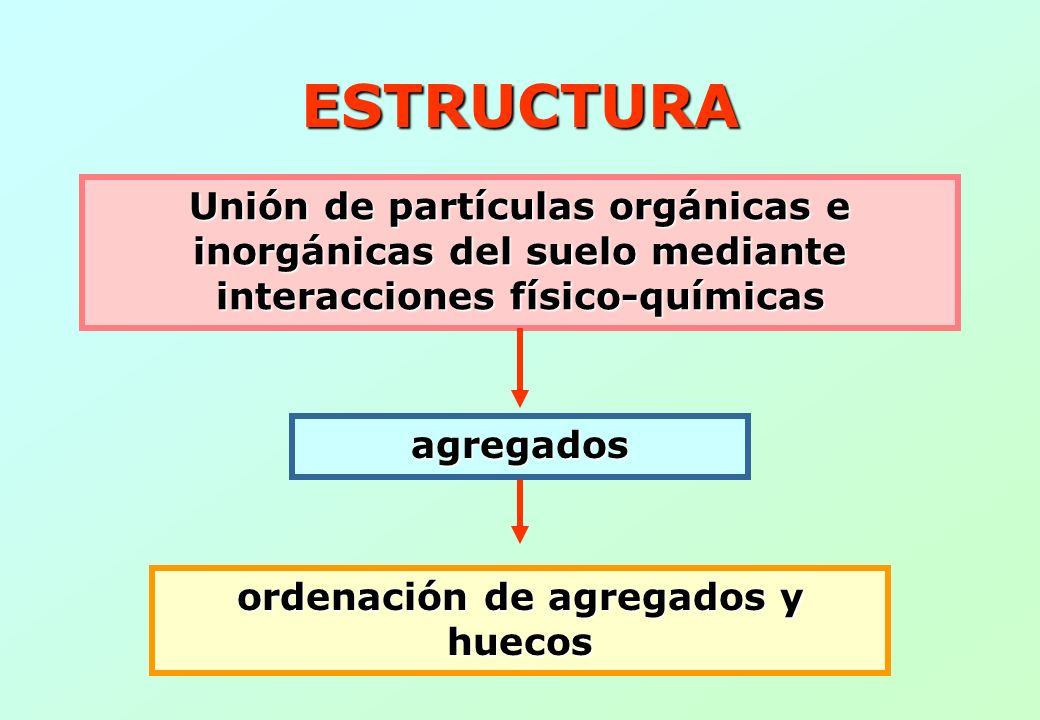 ordenación de agregados y huecos