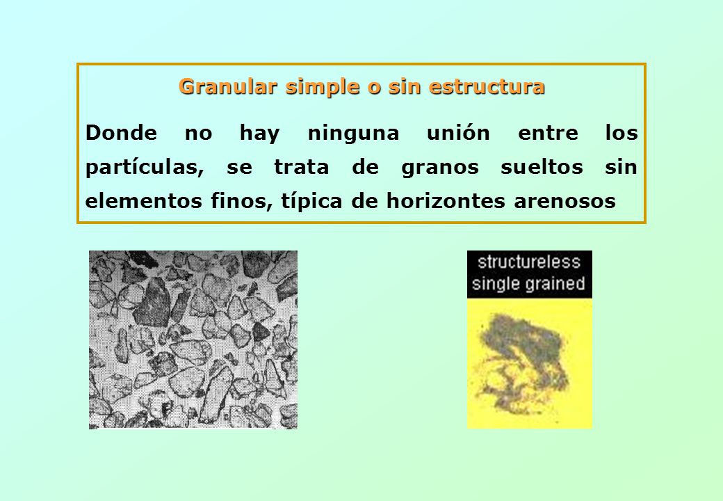 Granular simple o sin estructura