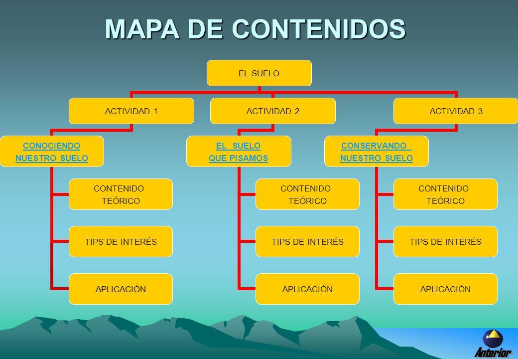 MAPA DE CONTENIDOS Anterior