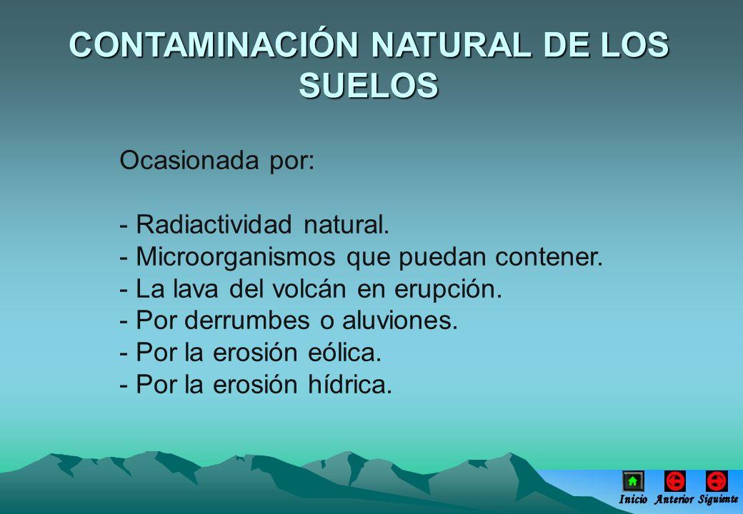 CONTAMINACIÓN NATURAL DE LOS SUELOS