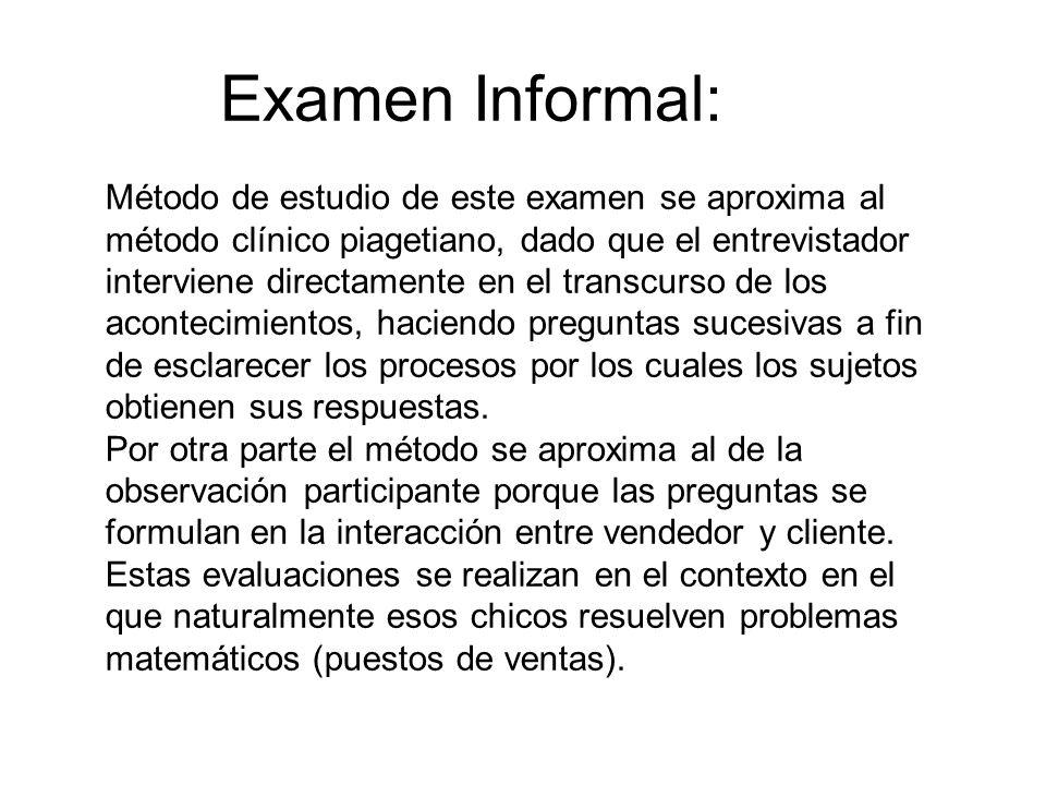 Examen Informal: