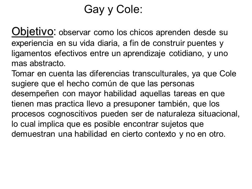 Gay y Cole: