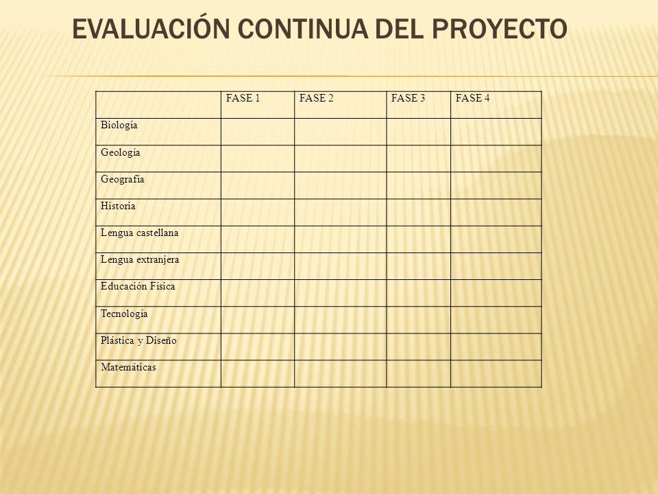 Evaluación continua del proyecto