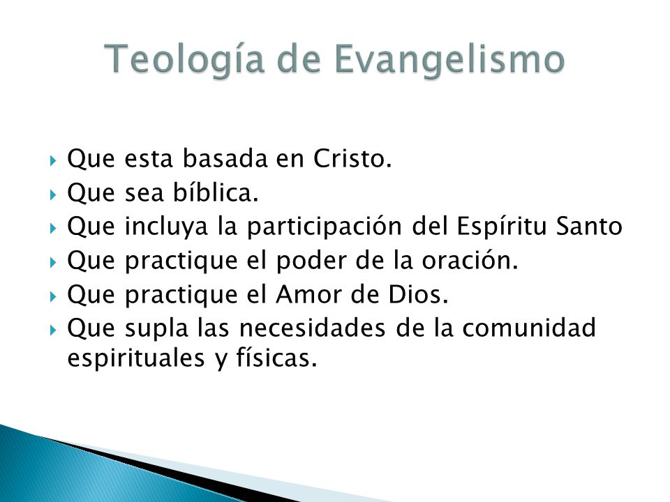 Teología de Evangelismo