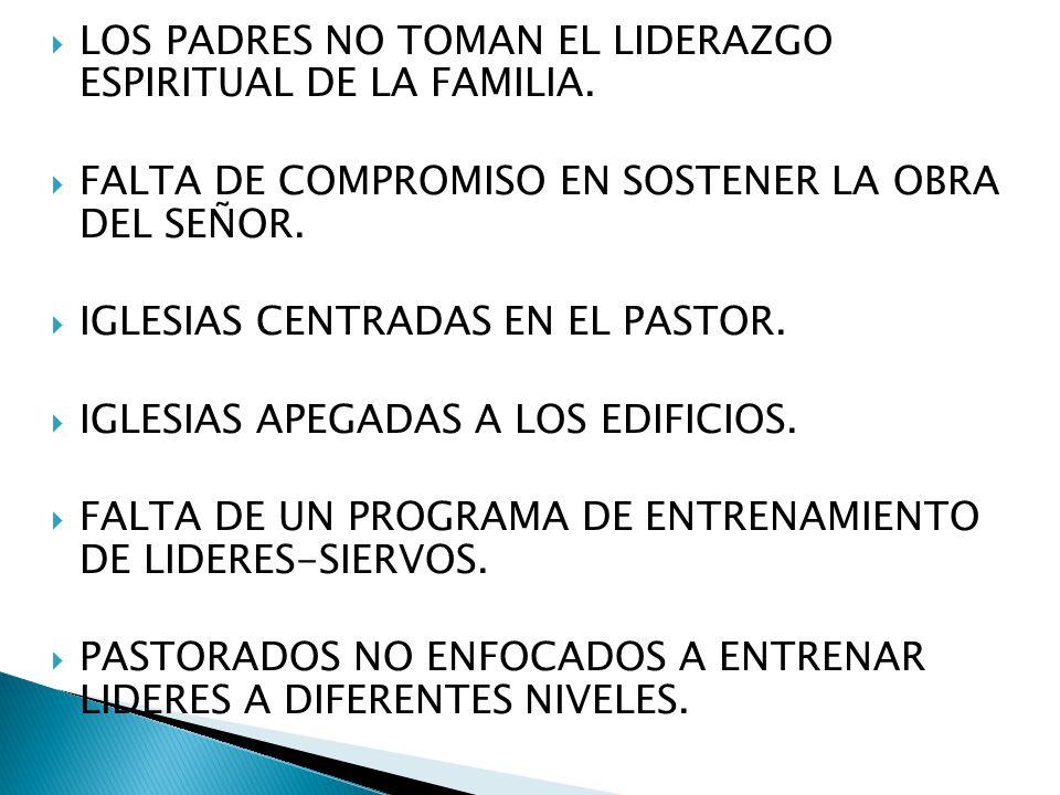LOS PADRES NO TOMAN EL LIDERAZGO ESPIRITUAL DE LA FAMILIA.