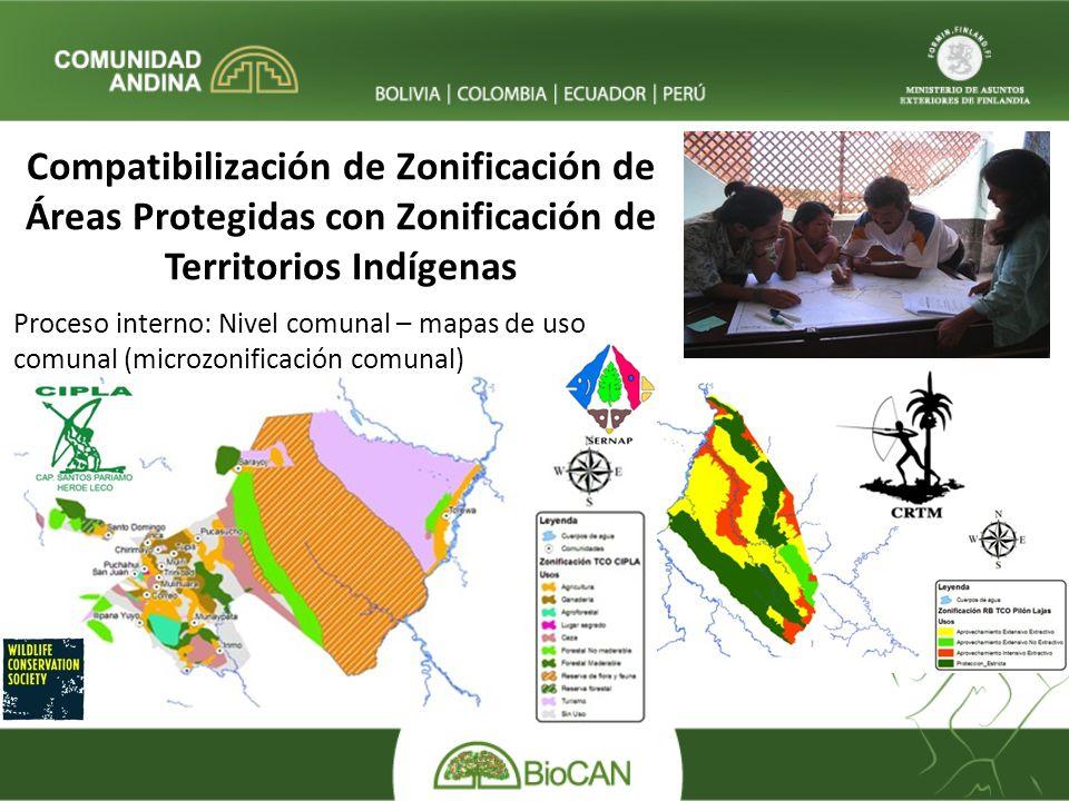 Compatibilización de Zonificación de Áreas Protegidas con Zonificación de Territorios Indígenas