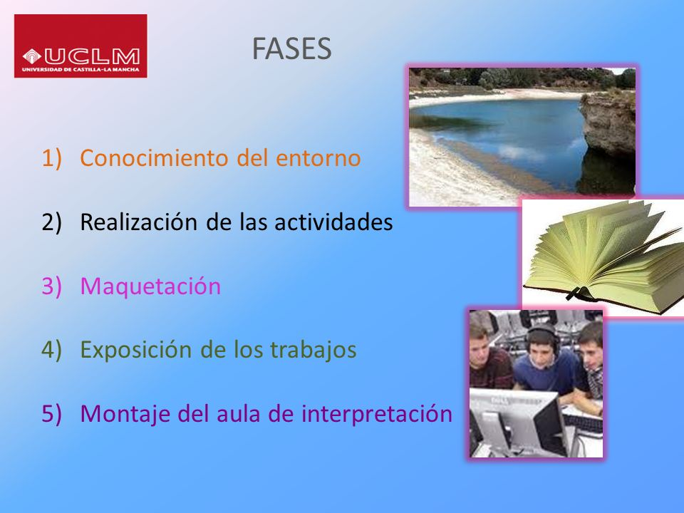 FASES Conocimiento del entorno Realización de las actividades