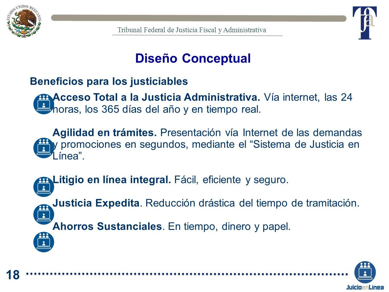 Diseño Conceptual 18 Beneficios para los justiciables