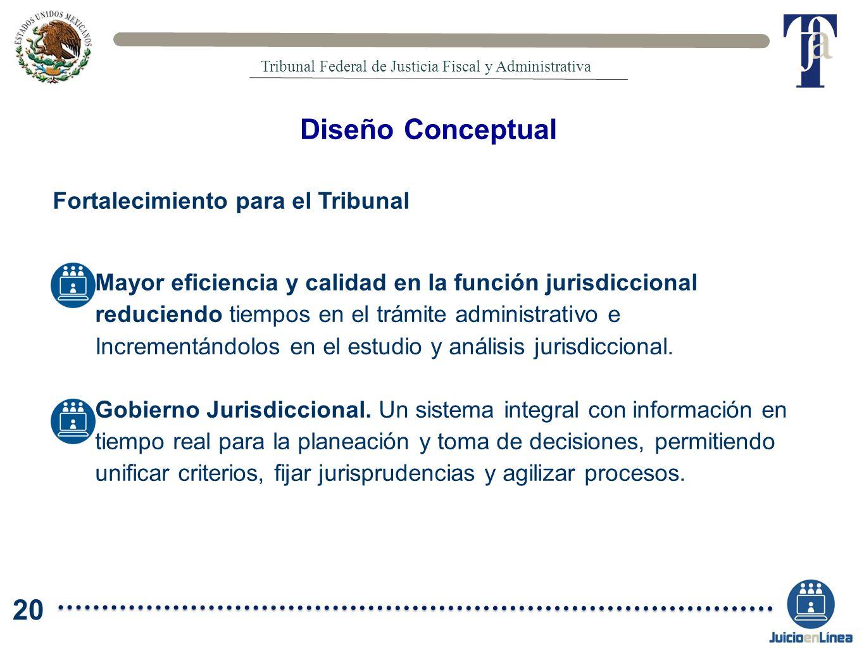 Diseño Conceptual 20 Fortalecimiento para el Tribunal