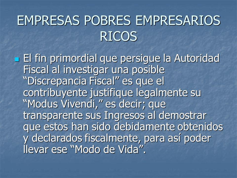 EMPRESAS POBRES EMPRESARIOS RICOS