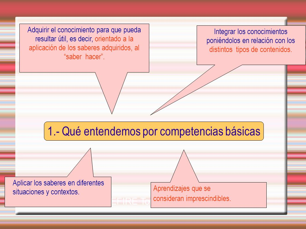 1.- Qué entendemos por competencias básicas