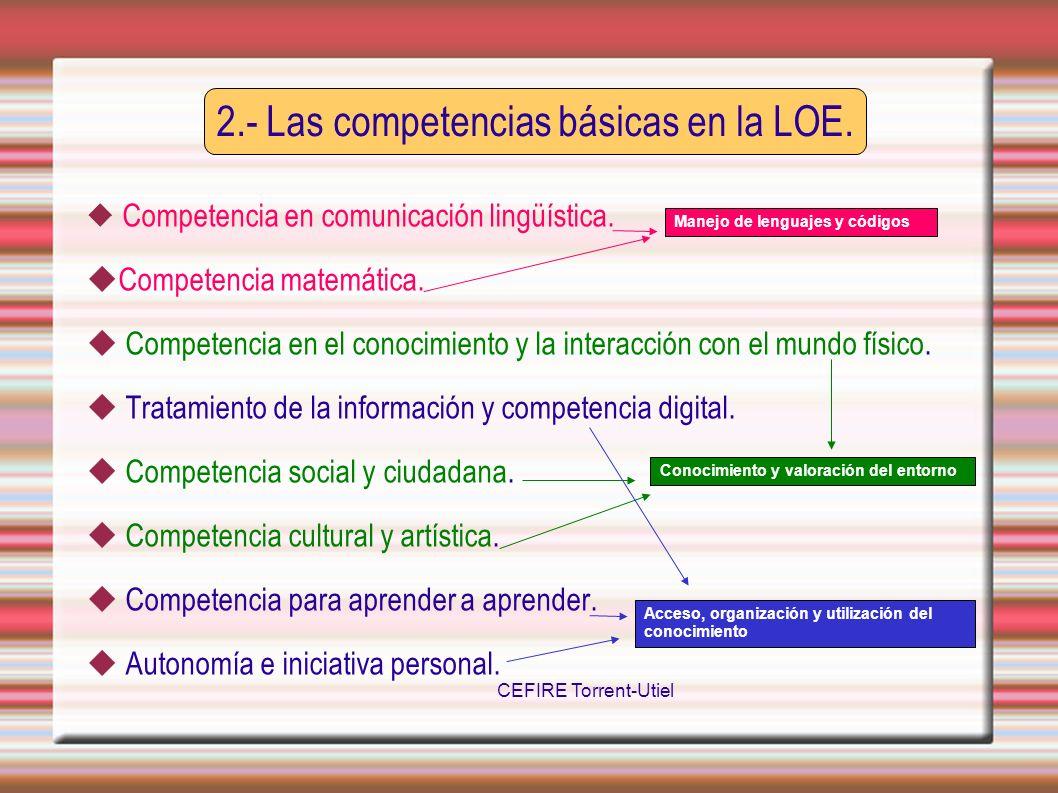 2.- Las competencias básicas en la LOE.