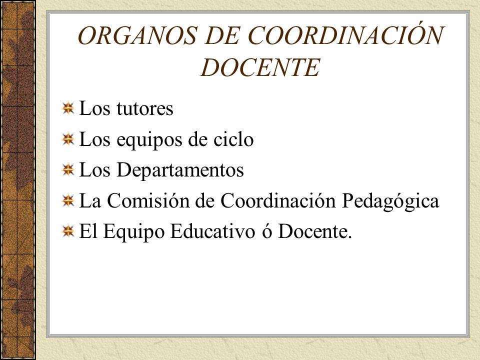 ORGANOS DE COORDINACIÓN DOCENTE