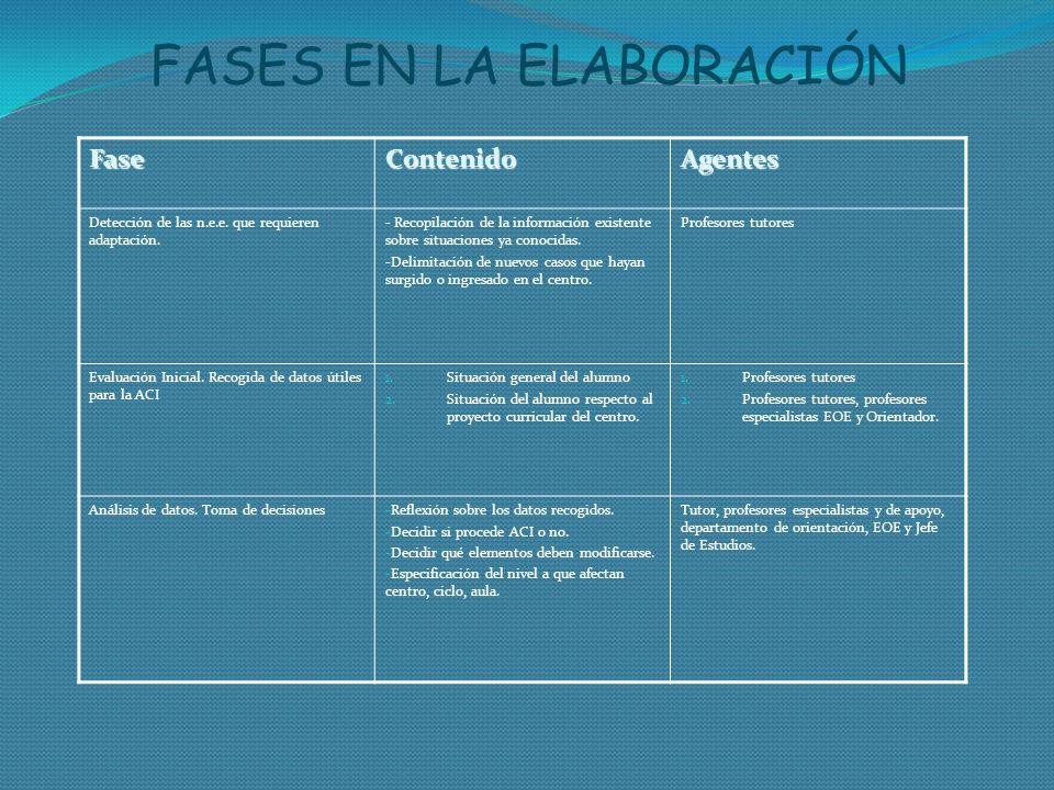 FASES EN LA ELABORACIÓN