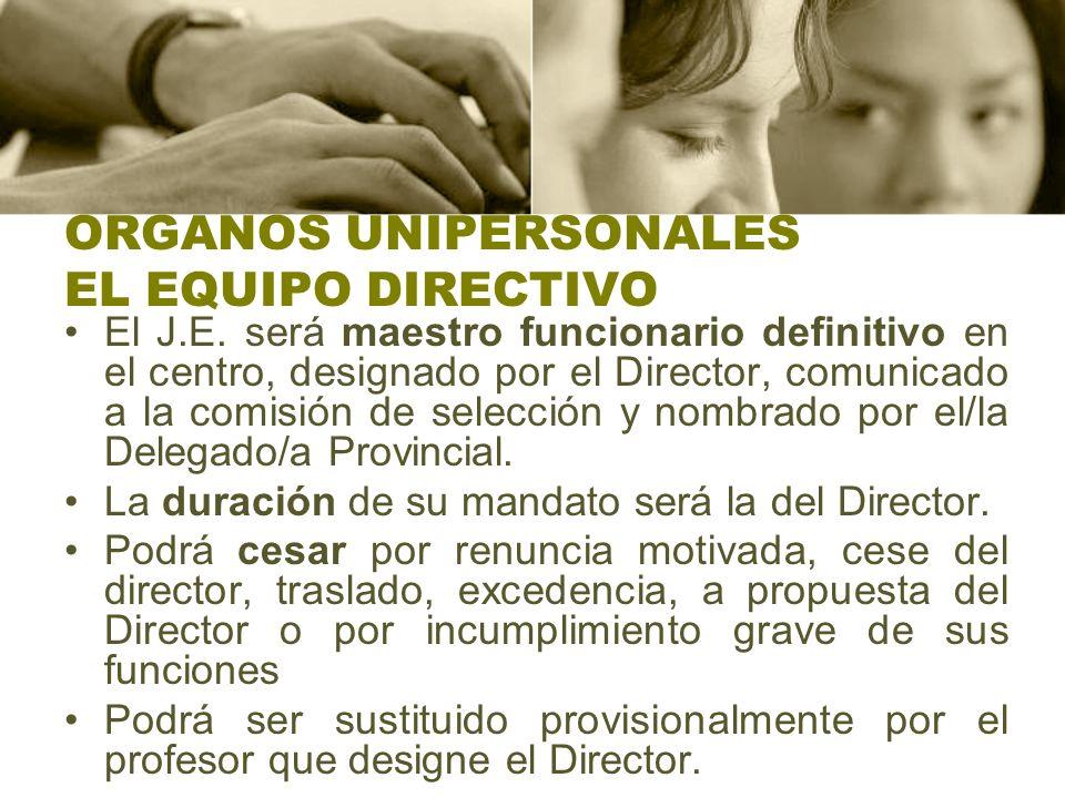 ORGANOS UNIPERSONALES EL EQUIPO DIRECTIVO