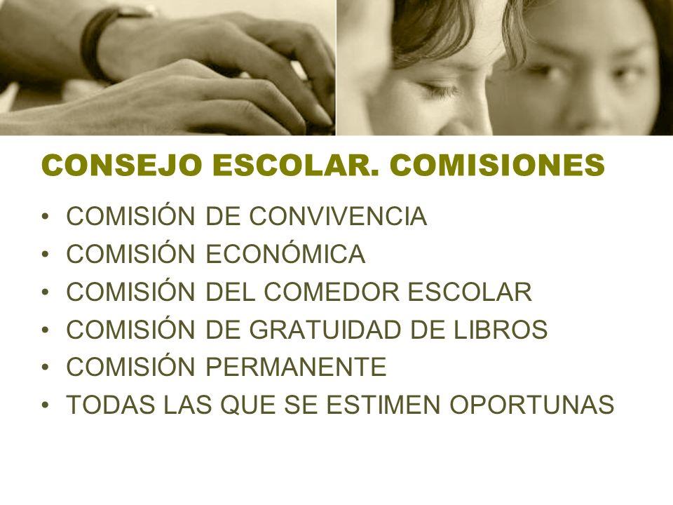CONSEJO ESCOLAR. COMISIONES