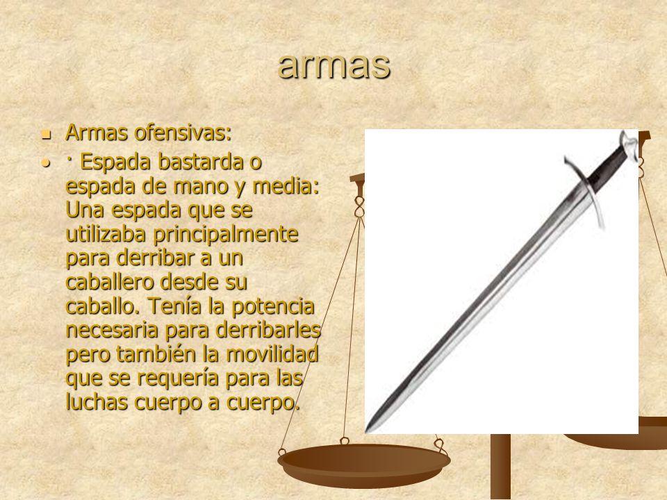 armas Armas ofensivas: