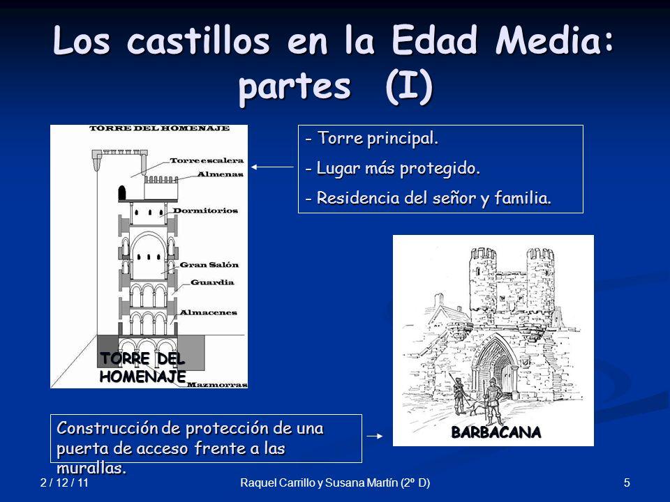 Los castillos en la Edad Media: partes (I)
