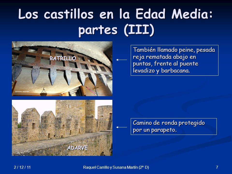 Los castillos en la Edad Media: partes (III)