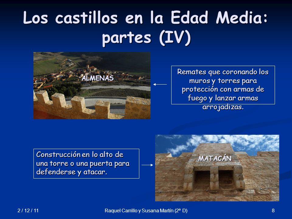 Los castillos en la Edad Media: partes (IV)