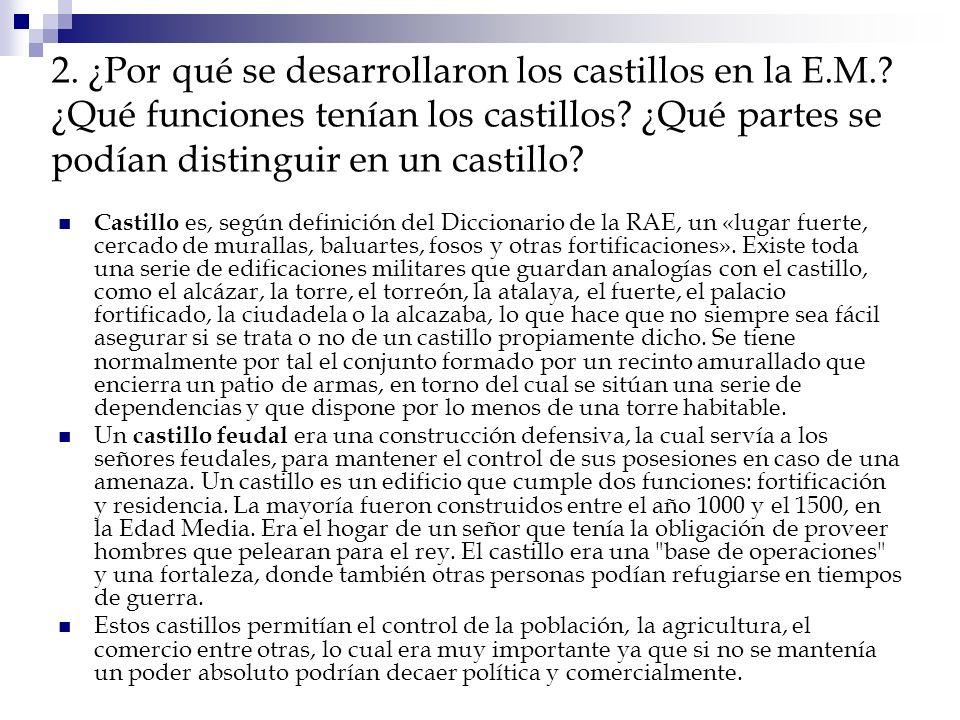 2. ¿Por qué se desarrollaron los castillos en la E. M