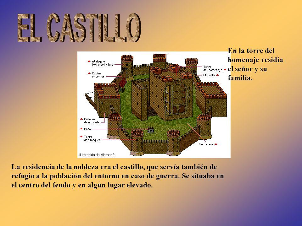 EL CASTILLO En la torre del homenaje residía el señor y su familia.