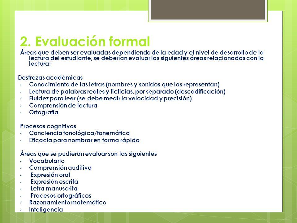 2. Evaluación formal