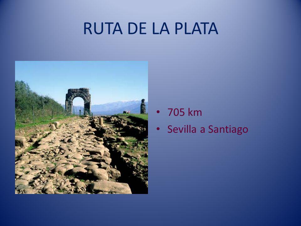 RUTA DE LA PLATA 705 km Sevilla a Santiago