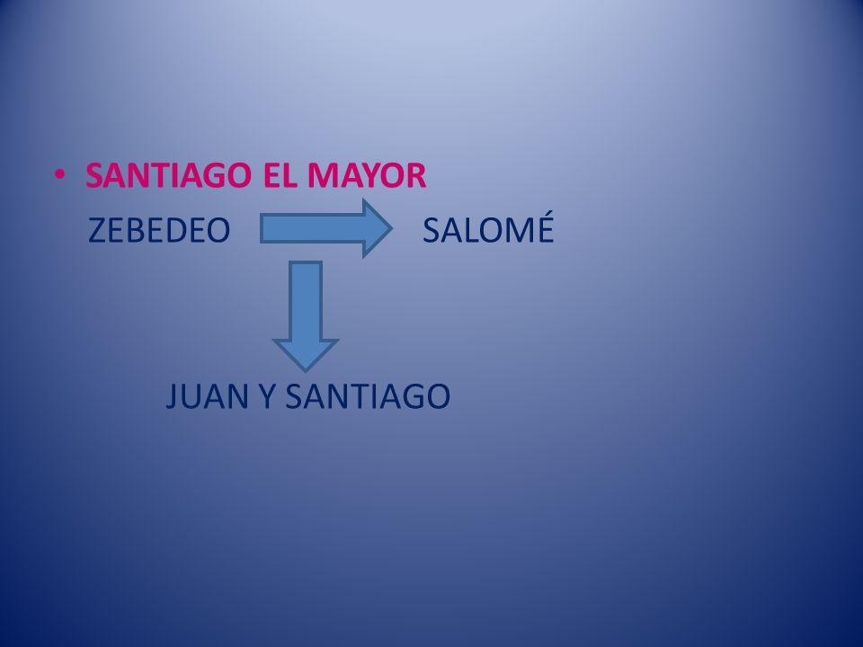 SANTIAGO EL MAYOR ZEBEDEO SALOMÉ JUAN Y SANTIAGO