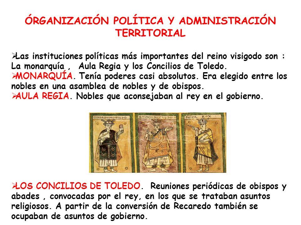 ÓRGANIZACIÓN POLÍTICA Y ADMINISTRACIÓN TERRITORIAL