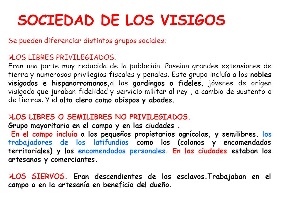 SOCIEDAD DE LOS VISIGOS