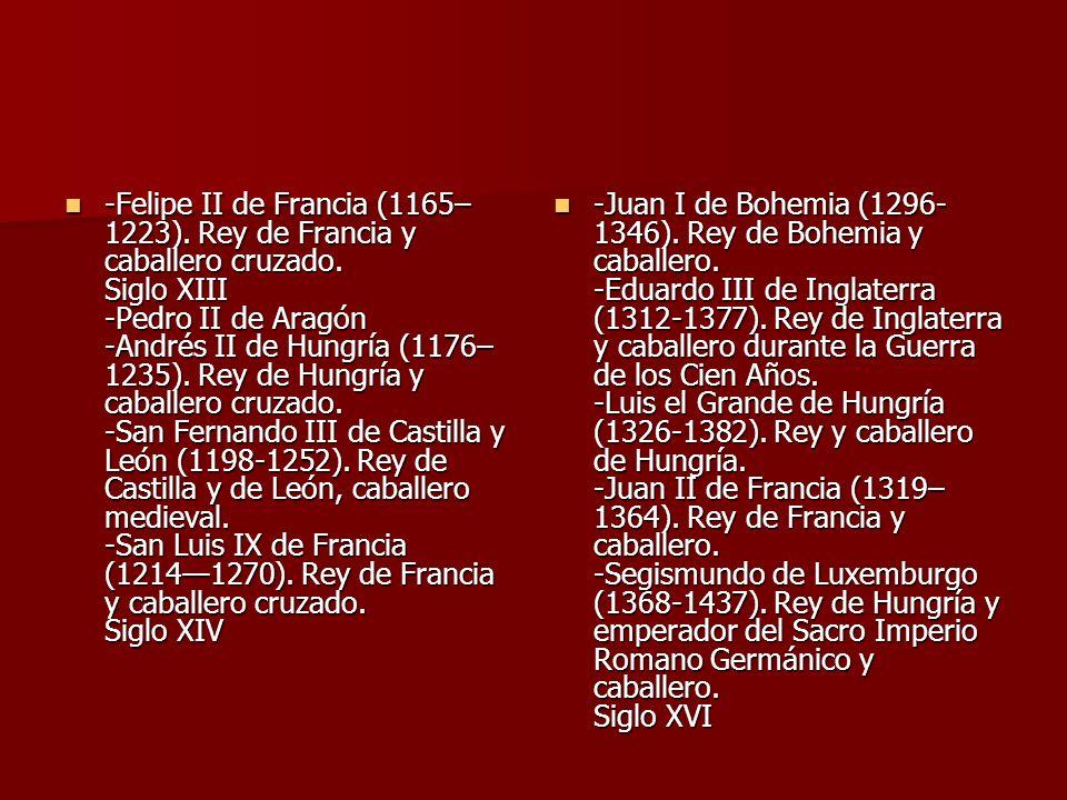 -Felipe II de Francia (1165–1223). Rey de Francia y caballero cruzado
