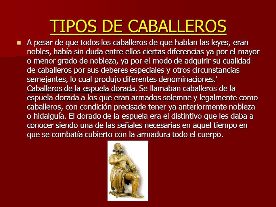 TIPOS DE CABALLEROS