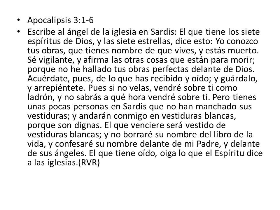 Apocalipsis 3:1-6