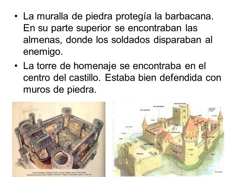 La muralla de piedra protegía la barbacana