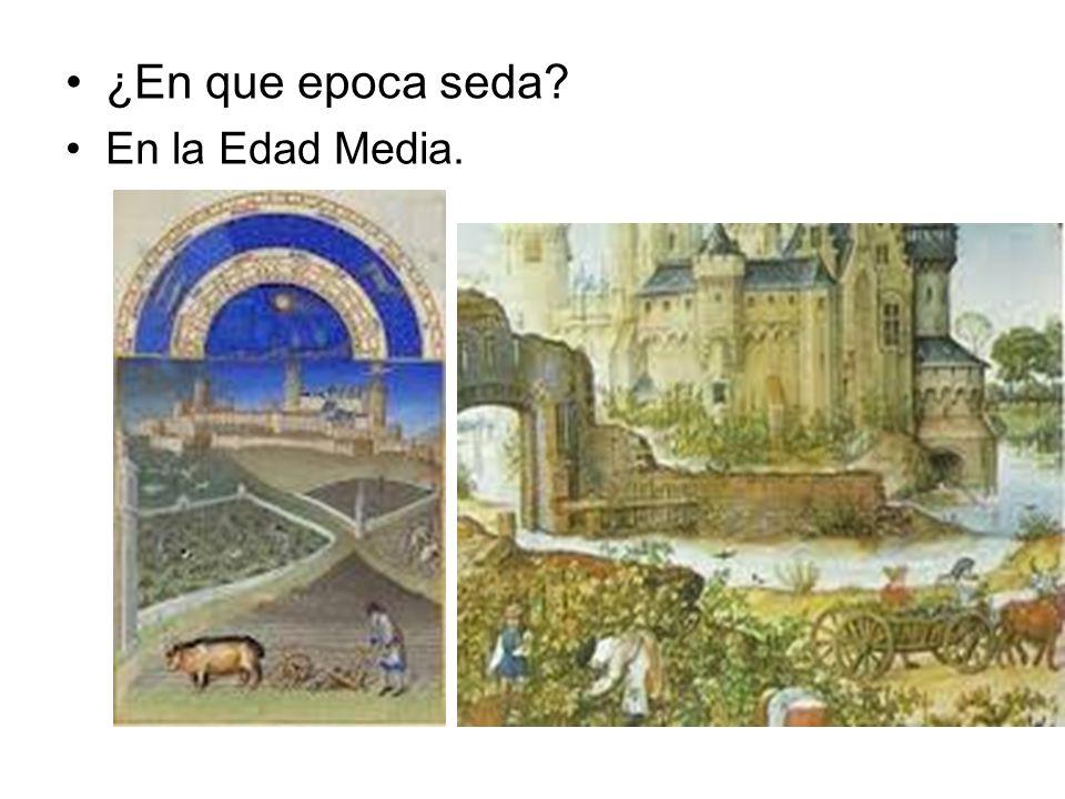 ¿En que epoca seda En la Edad Media.