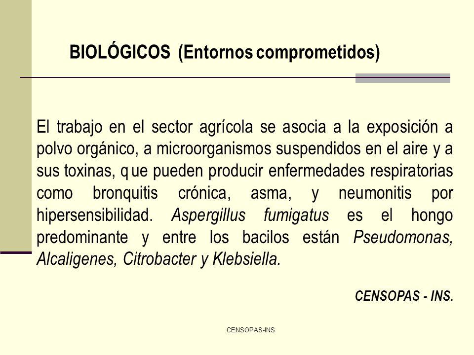 BIOLÓGICOS (Entornos comprometidos)