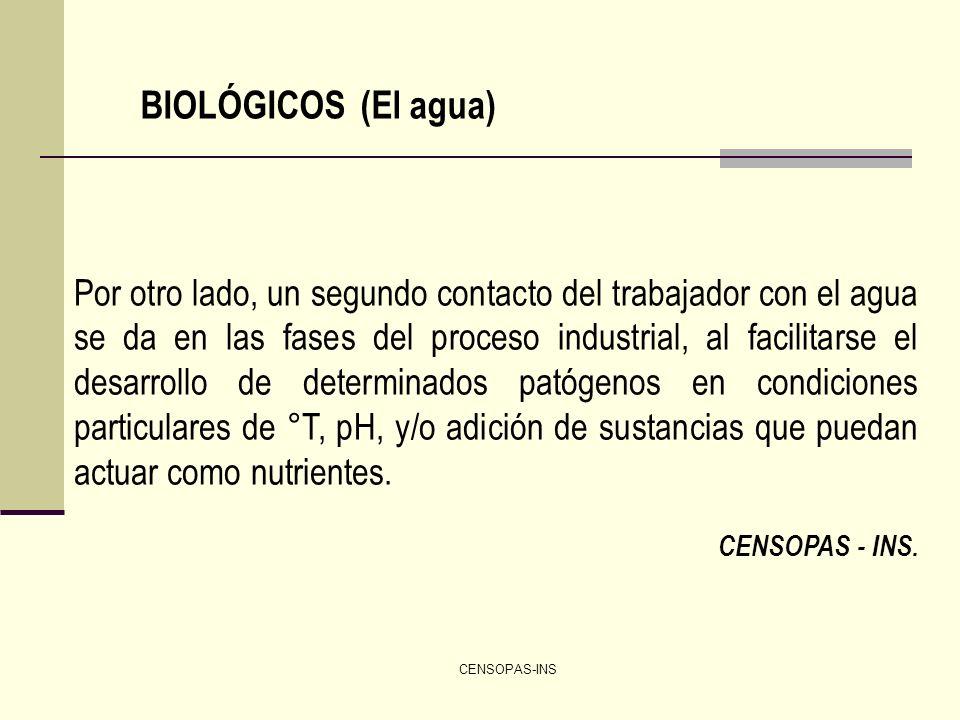 BIOLÓGICOS (El agua)