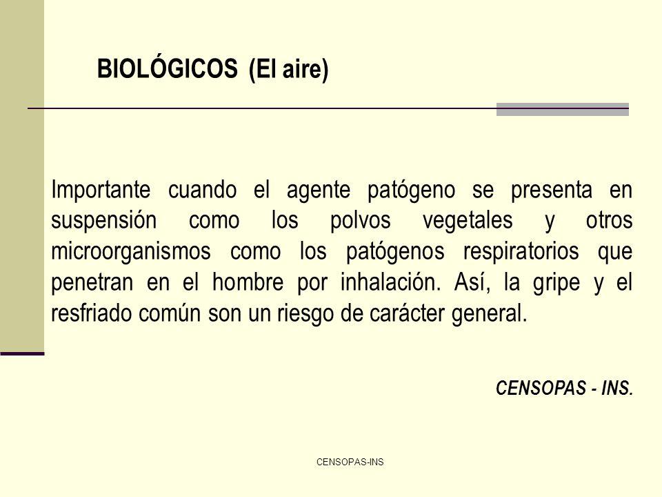 BIOLÓGICOS (El aire)