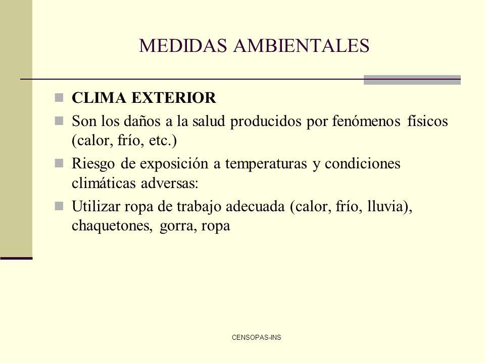 MEDIDAS AMBIENTALES CLIMA EXTERIOR