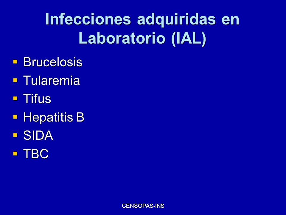 Infecciones adquiridas en Laboratorio (IAL)