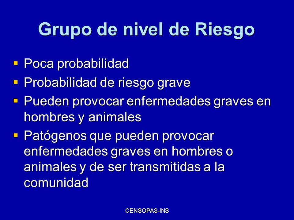 Grupo de nivel de Riesgo