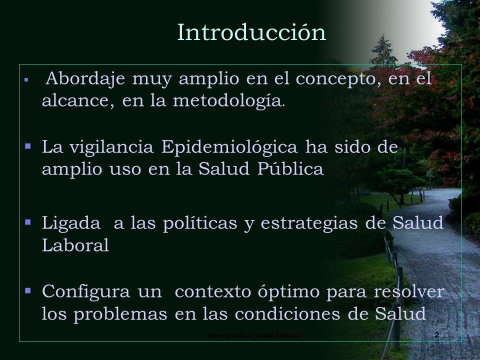 Introducción Abordaje muy amplio en el concepto, en el alcance, en la metodología.