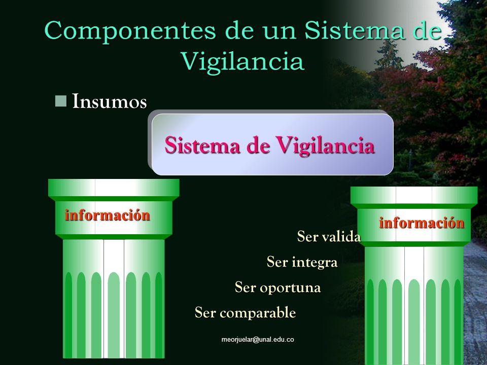 Componentes de un Sistema de Vigilancia